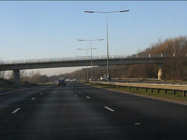 M62 motorway - Huyton sewage works access bridge