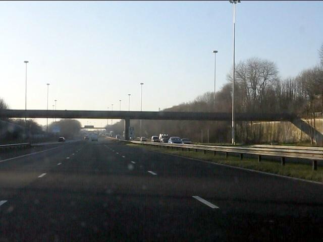M62 motorway - Greystone Road footbridge