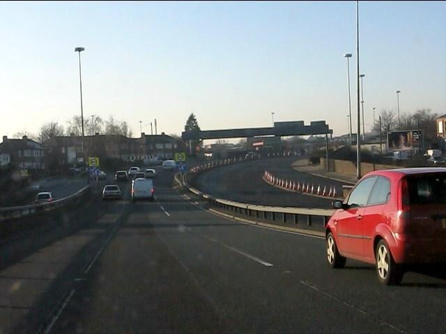 Western end of the M62 motorway