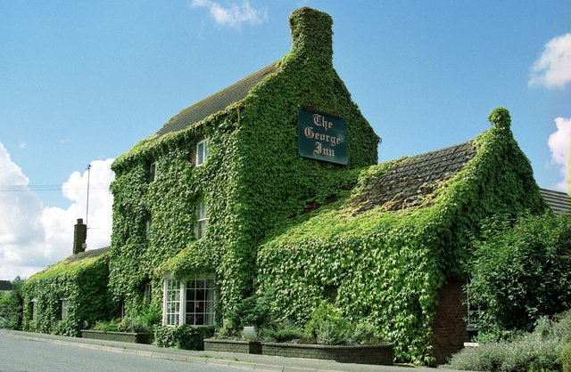 The ivy clad George Inn, Cambridge