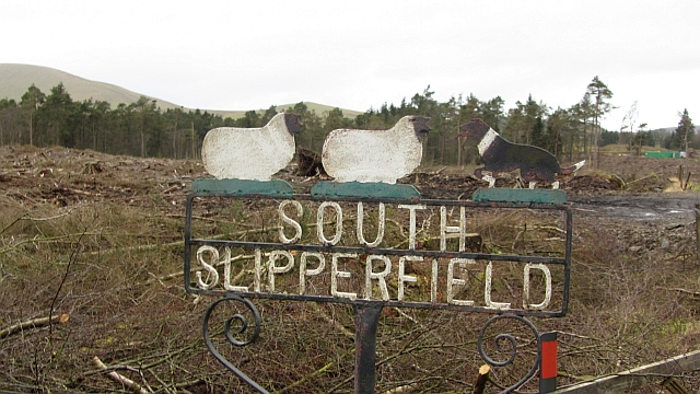 South Slipperfield farm sign