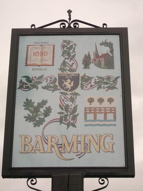 Barming Village Sign (Close-up)