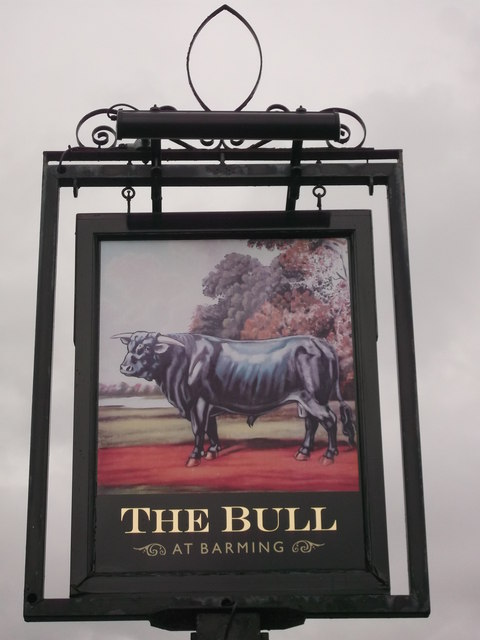 The Bull Pub Sign, Barming