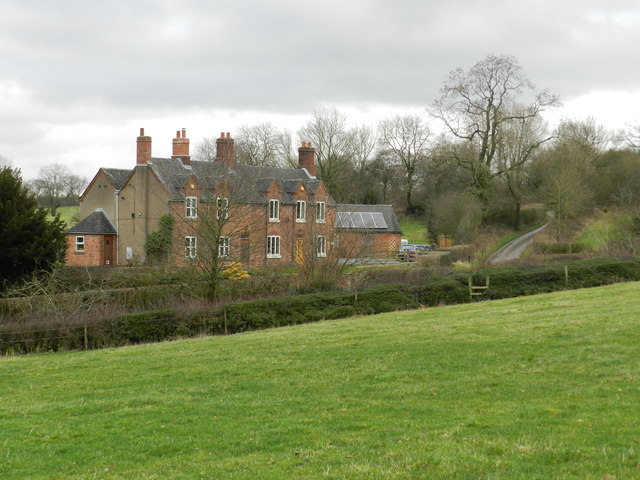 Red brick house, on Pinfold Lane