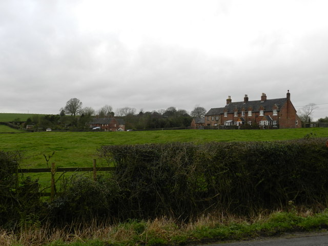 Rows of brick built cottages, Bradley