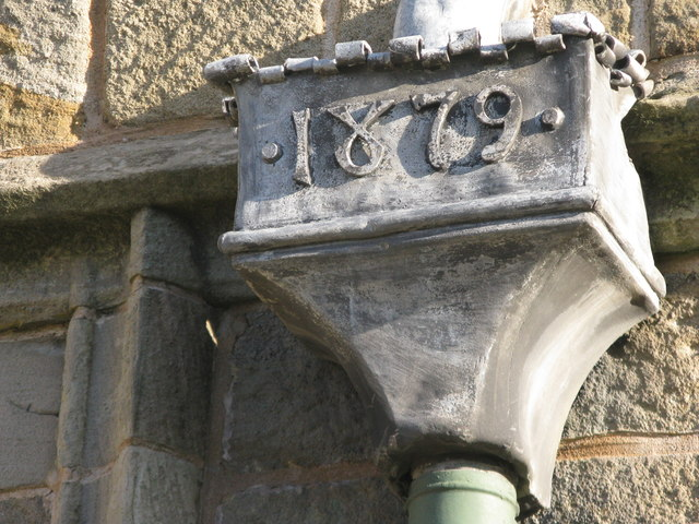 Marker (1879) on the drains
