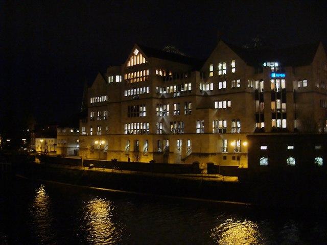 Floodlit Building, York