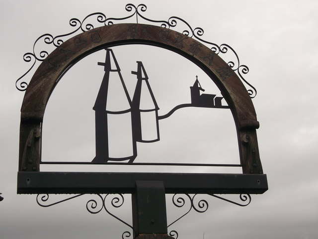 East Peckham Village Sign (Close-up)