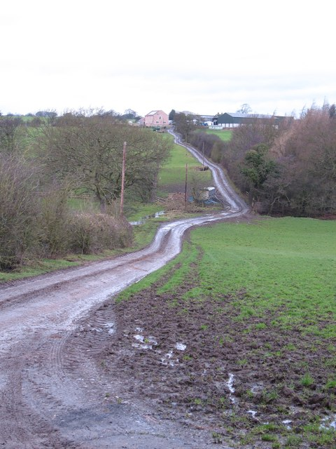 Track and prow to Parks Farm