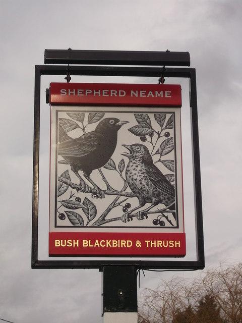 Bush, Blackbird and Thrush Pub Sign, Peckham Bush