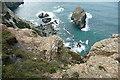 SW7252 : Rocky coast near Pen a Grader by Graham Horn