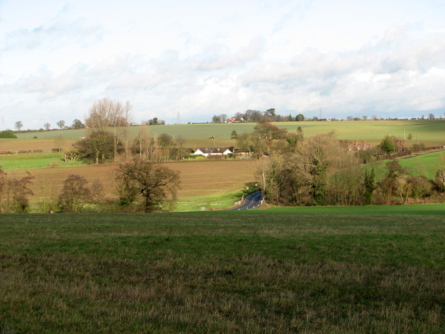 View towards Burstall Bridge, Hintlesham