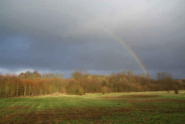 Rainbow over Prestwich Forest Park