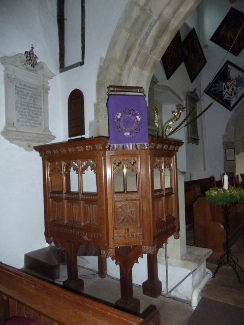 St Mary, Breamore: pulpit