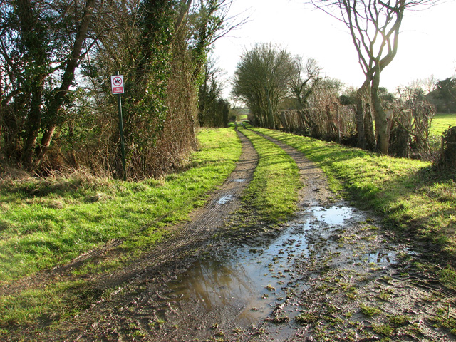 Private farm track to Burstall Hall