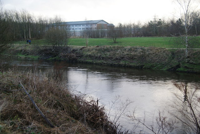 The River Irwell near HMP Forest Bank