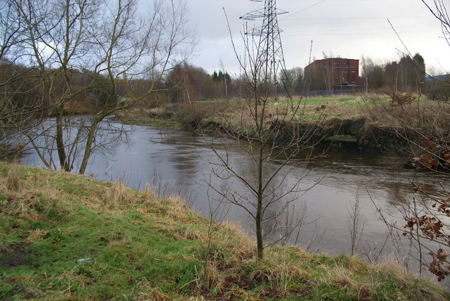The River Irwell near Agecroft Power Station