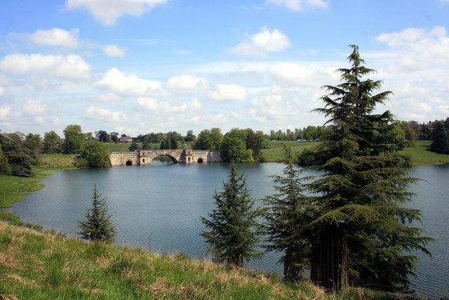 The Lake and Grand Bridge in Blenheim Park
