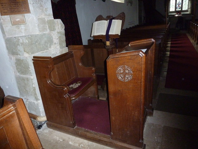 St Mary's Church, Breamore- prayer desk