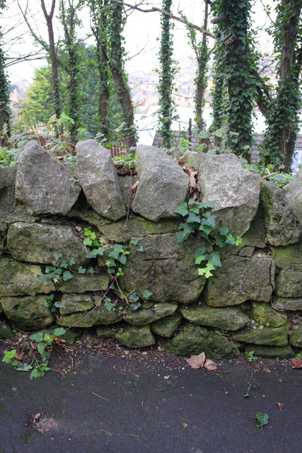 Benchmark on wall of Old Hill
