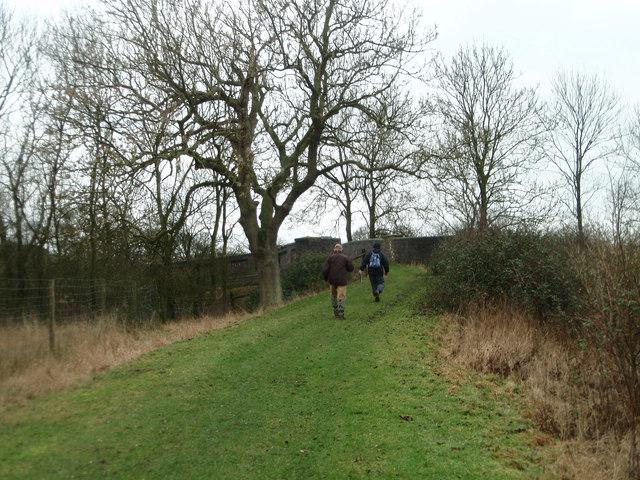 Heading towards an old railway bridge