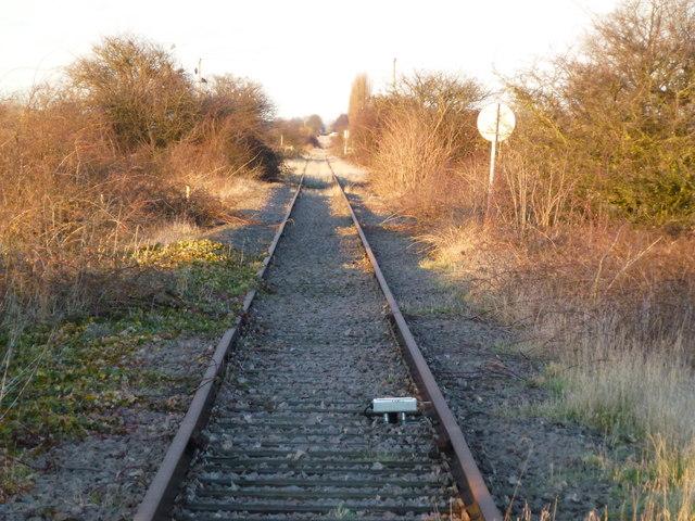 Rusting rails on The Bramley Line