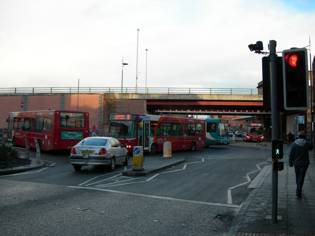 Bus Traffic Jam at the entrance to the Bus Station