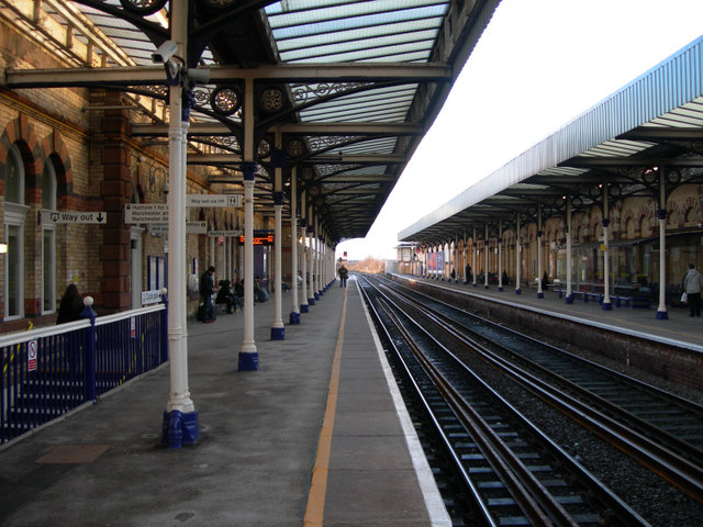 Eastbound Platform of Warrington Central Station