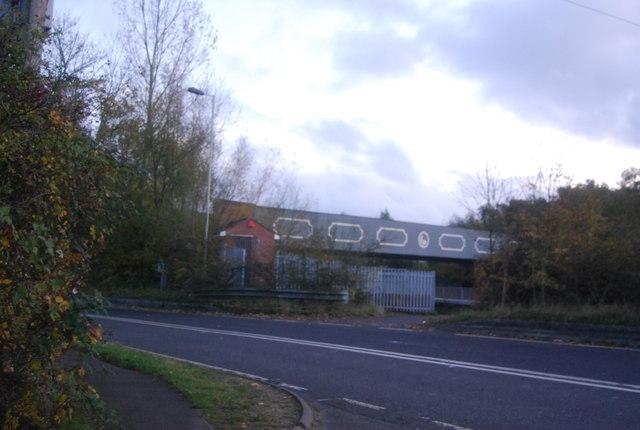 Railway bridge over the Blackwater Valley Relief Road