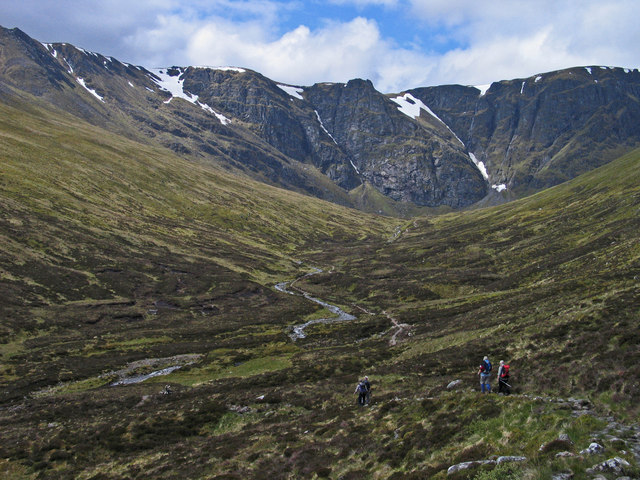 Path descending on north side of Allt Coire Ardair