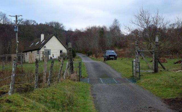 'Tied' cottage at Glaceriska