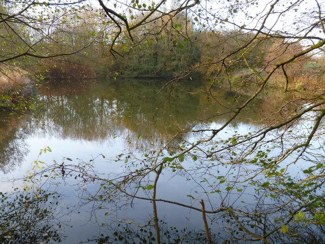 Valley bottom lake