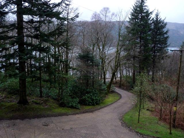 Access roads in Glenstriven estate