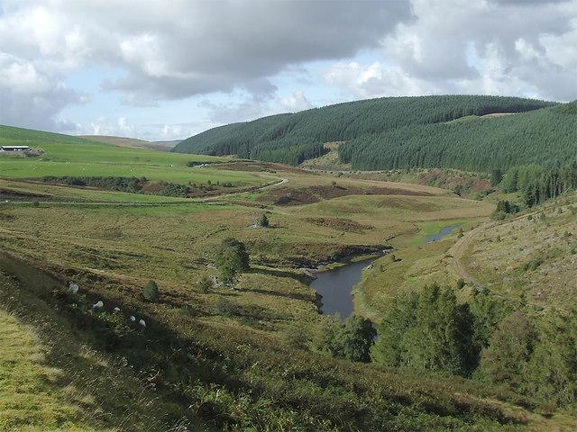 Cwm Camddwr south-east of Soar-y-Mynydd, Ceredigion