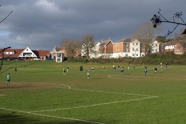 Football match, Cricketfield Road, Torquay