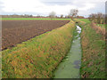 SK7759 : Drainage ditch at Manor Farm by Trevor Rickard