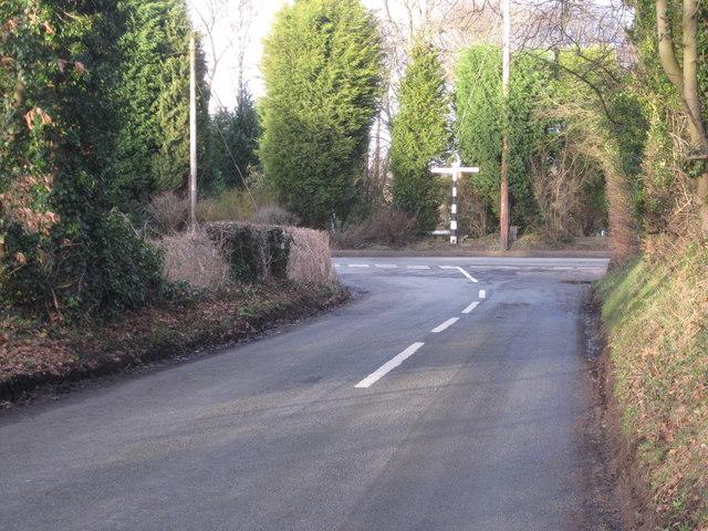 Sugar Lane junction with Brookledge Lane Adlington
