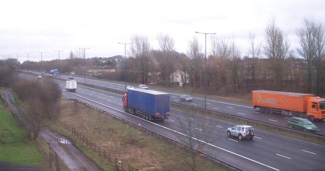 The M62 at Castleton