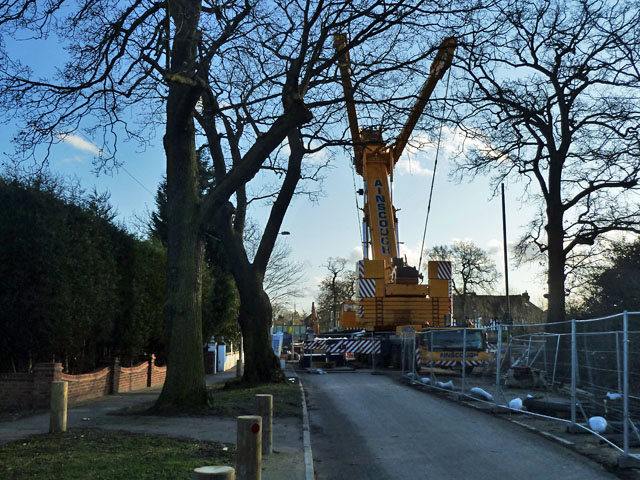Bridge replacement on Chislehurst Road