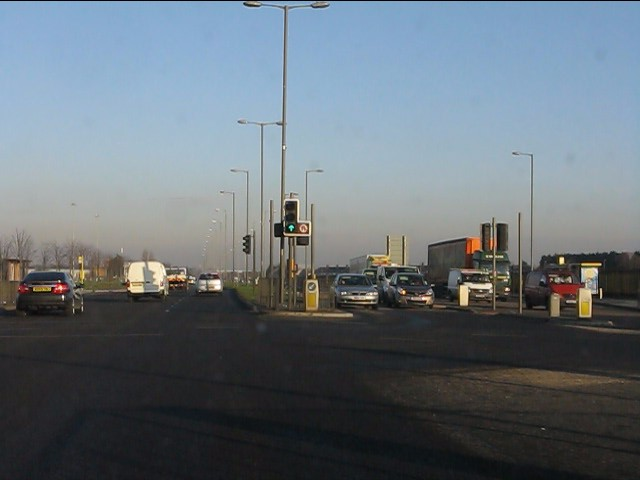 A580 at the junction for Aintree