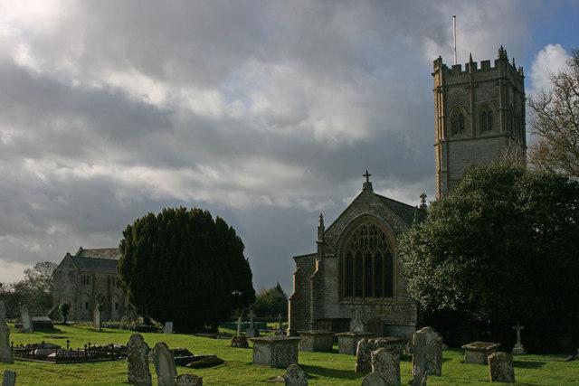 Muchelney Abbey and church