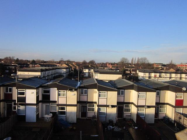 Houses backing onto Hudson Street, Hull