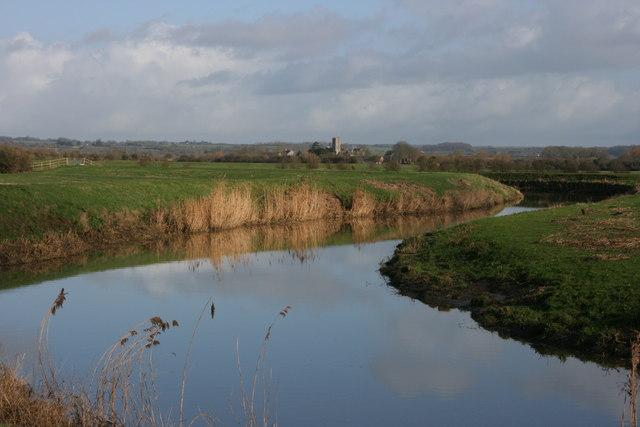 Muchelney from the River Parrett