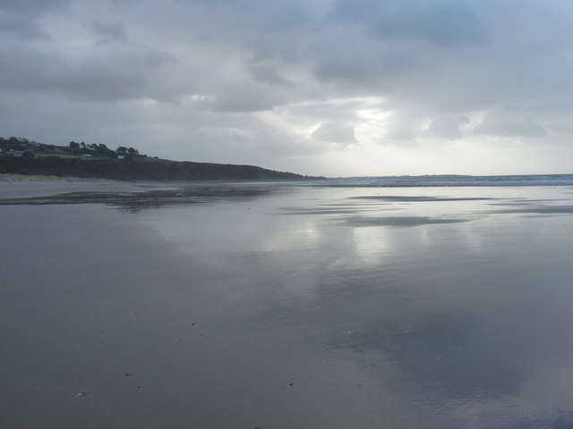 Harlech beach on a cool, rather dull January day