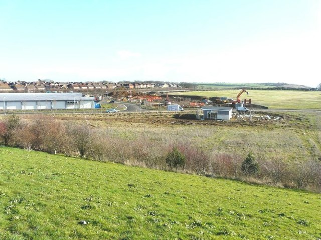 Building work in Defiant Close, Hawkinge