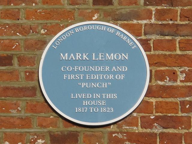 Photo of Mark Lemon blue plaque