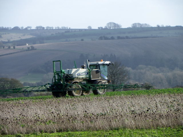Crop spraying near Stratford Tony