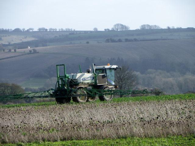 Crop spraying near Stratford Tony