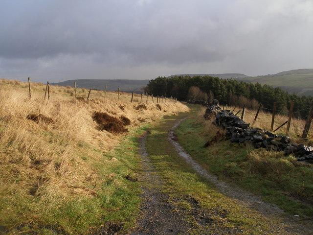 Bridleway towards Deanhead