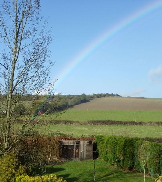 Rainbow over Netton Farm